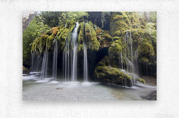 Capelli di Venere waterfalls  Metal print
