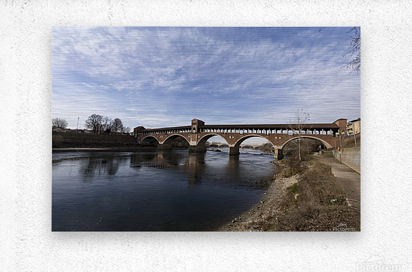 Pavia - Il Ponte coperto  Metal print