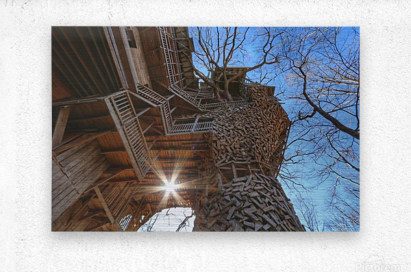 Abandoned Ministers Treehouse  Metal print
