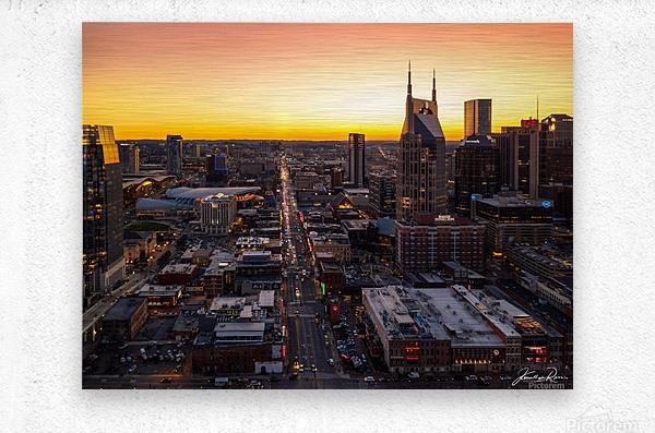 Nashville Skyline  Metal print
