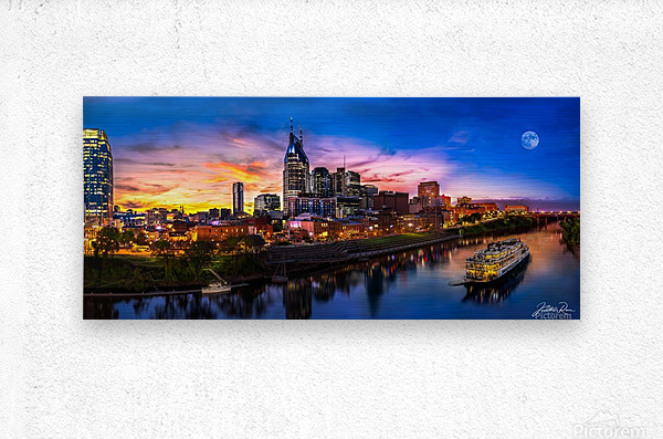 Nashville and General Jackson   Metal print