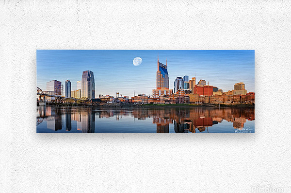 Nashville Skyline in the morning  Metal print