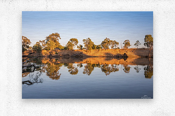 Reflections on the Murray River  Metal print