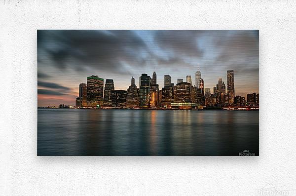 New York City Skyline at Dusk  Metal print