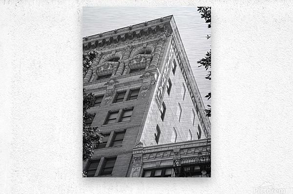 Continental Building DTLA - B&W  Metal print