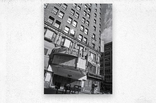 B&W The State Theatre - DTLA  Metal print