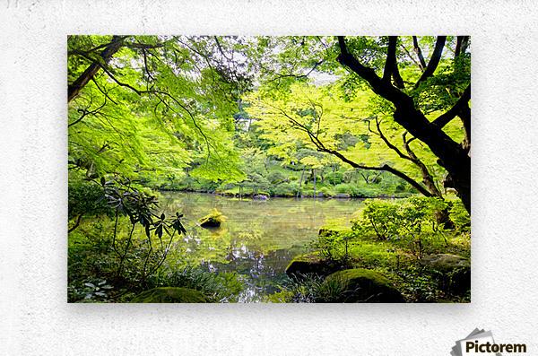Tokyo Garden  Metal print