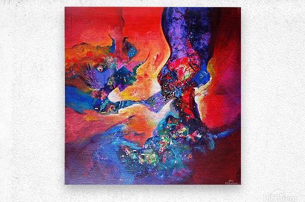 harmony II,size 33 inches x33 inches, medium acrylic on canvas  Metal print