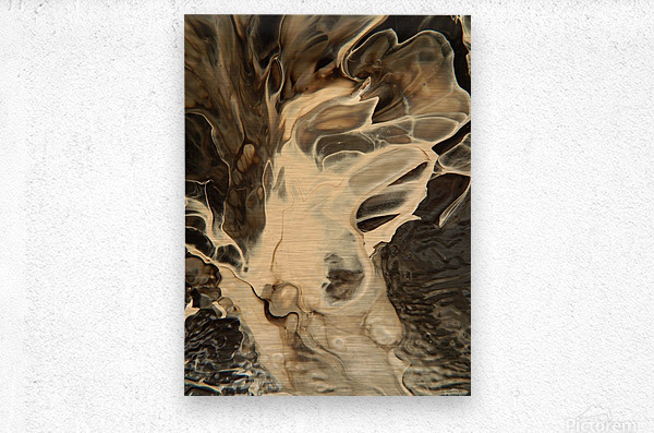 SMOKE ON WATER  Metal print