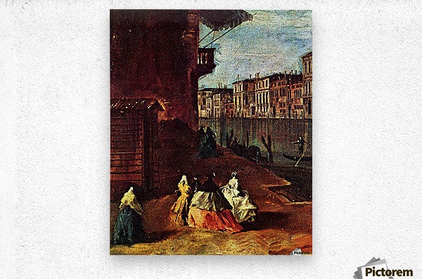 Venice, The Grand Canal with San Geremia, Palazzo Labia, and the Entrance to the Cannaregio  Metal print