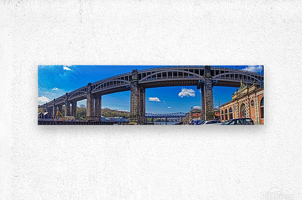 Newcastle railway bridge  Impression metal