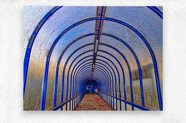 Blue perspective  Metal print