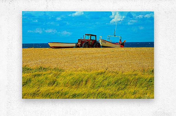 Beach Tractor  Metal print