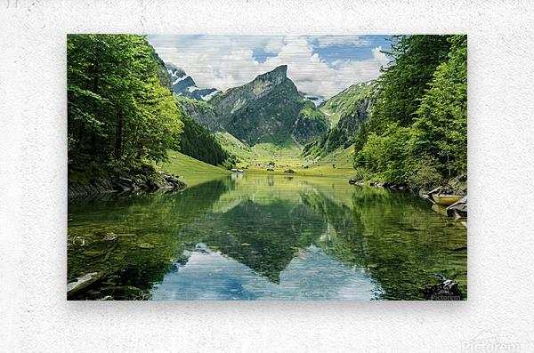 Tranquil scene of seealpsee lake   Metal print