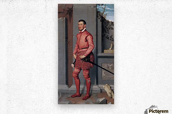 The Gentleman in Pink  Metal print