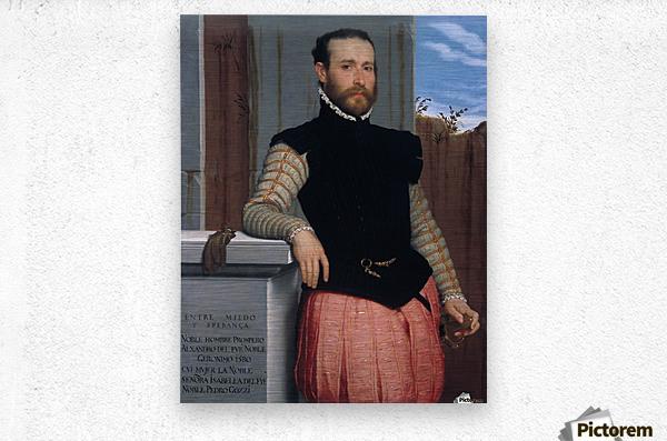 Portrait of Prospero Alessandri  Metal print