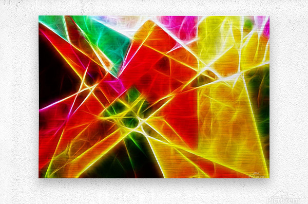 Geometric Colors  Metal print