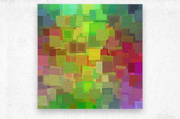 Vivid Squares  Metal print
