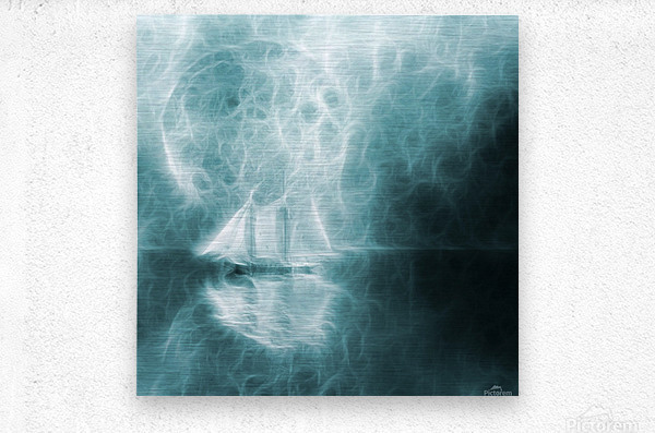Moonlight Cruise  Metal print