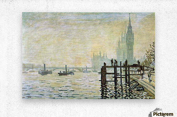 Westminster Bridge in London by Monet  Metal print