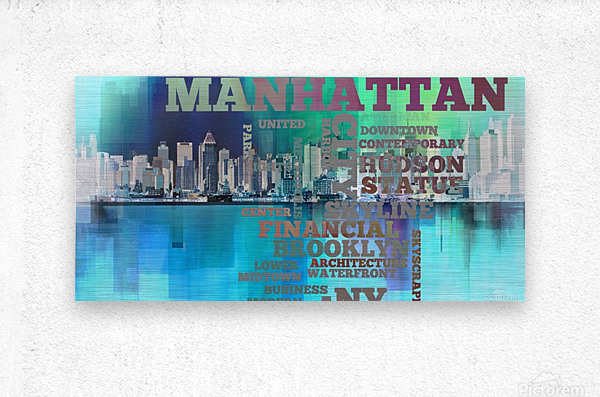 Manhattan harbor  Metal print