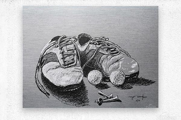 Tired  Nikes  Metal print