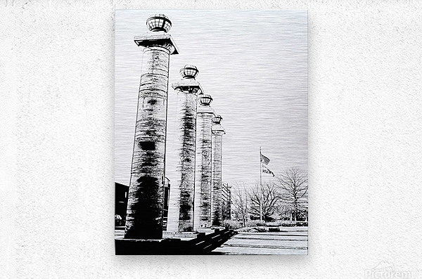 Columns At The Courthouse  Metal print