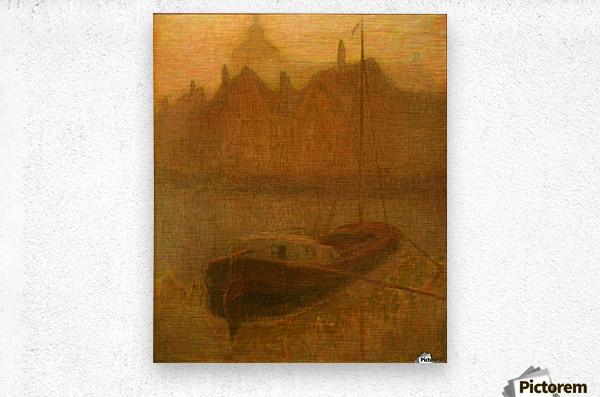 Barque sur le Canal  Metal print