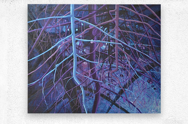 Forest of wisdom (4)_1526764884.65  Metal print