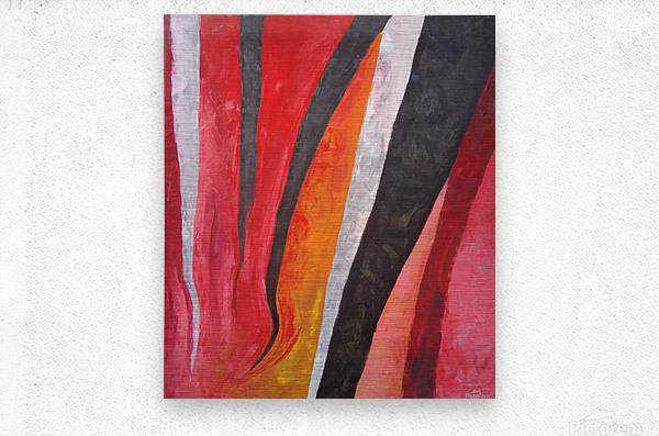 Flames (v)_1526764981.53  Metal print