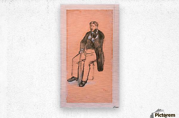 Seated Violin Player  Metal print