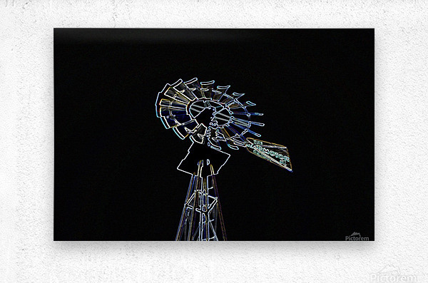 Aeromotor Windmill  Metal print