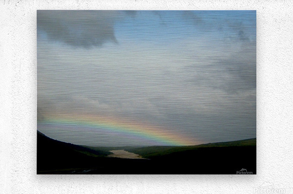Rainbow at Thousand Smokes  Metal print