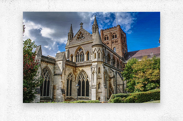 The Cathedral - England Landmarks  Metal print