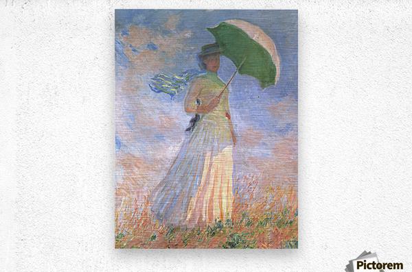 Woman with Parasol  Metal print
