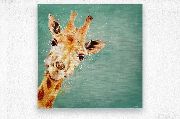 Girafeau  Metal print