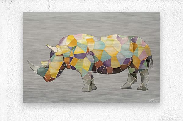 Rhino Mosaic  Metal print