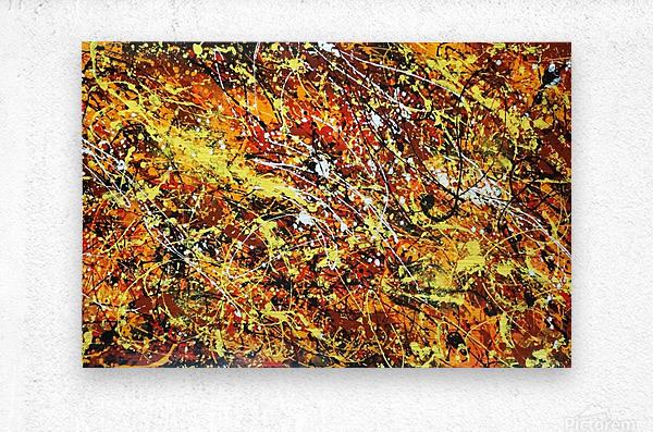 yellowy  Metal print