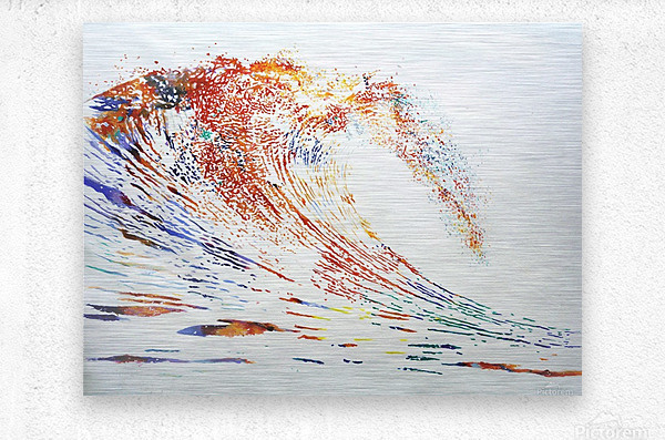 The Wave  Metal print