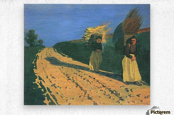 Wood-bearing women by Felix Vallotton  Metal print