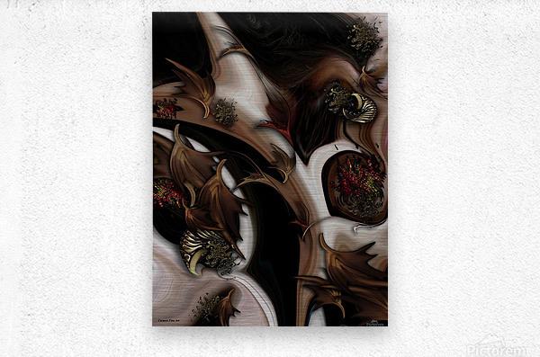 Juxtaposed Nature   Metal print