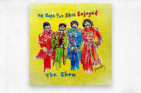 The Beatles - Enjoyed The Show  Metal print