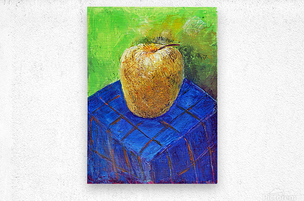 08.APPLE2014year oil on canvas 30X40 cm1500$  Metal print