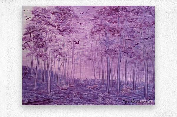 Purple Woods  Metal print