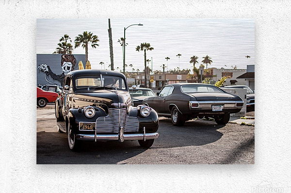Classy Old school Car  Metal print
