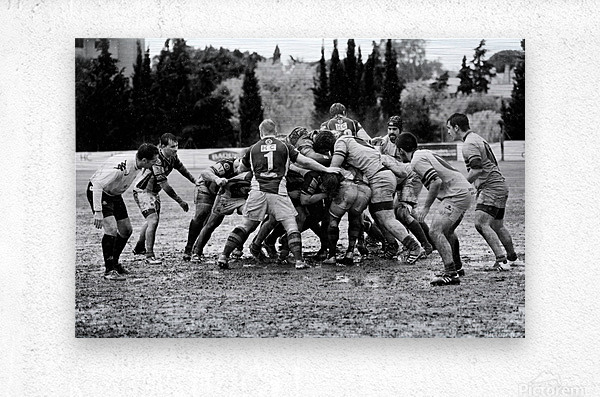 Rugby Mêlée  Metal print