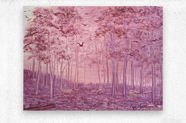 Pink Woods  Metal print