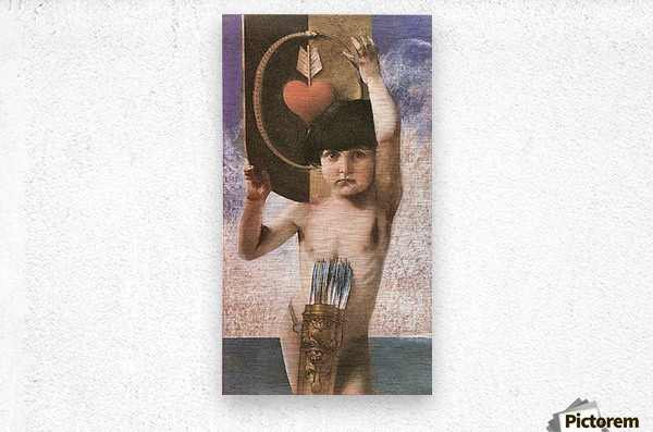 Amor by Franz von Stuck  Metal print