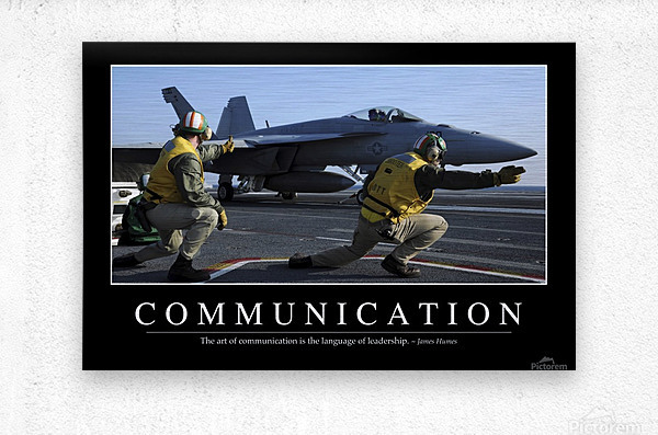 Communication: Inspirational Quote and Motivational Poster  Metal print