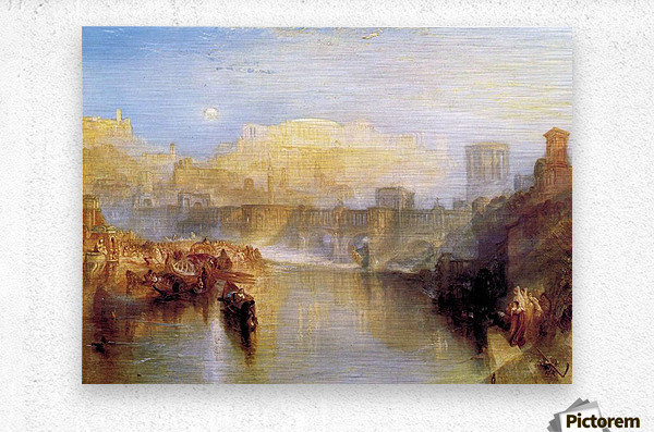 Ancient Rome; Agrippina lands with the ashes of Germanicus by Joseph Mallord Turner  Metal print